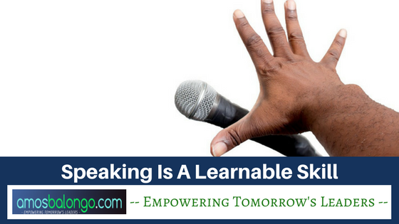 speaking learnable skill