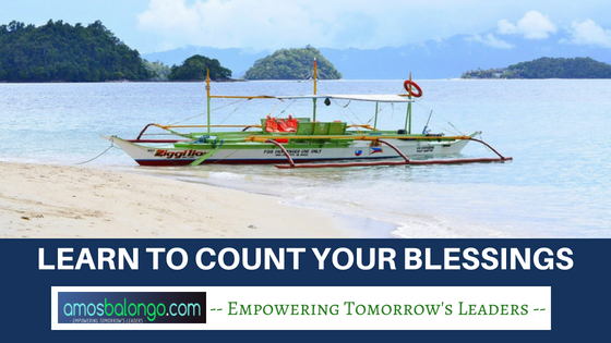 learn to count your blessings